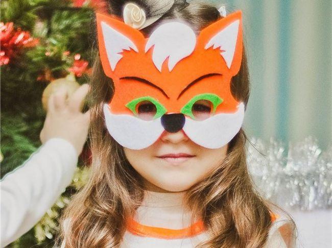Новогодняя маска лисы