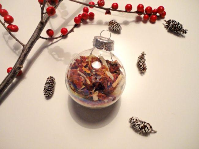 Новогодний шар с елочными шишечками