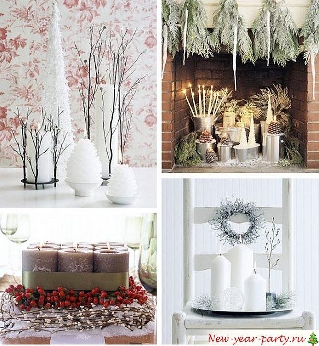 снежные декорации