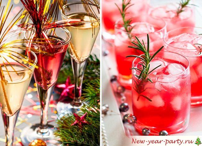 Спиртные напитки на Новый год