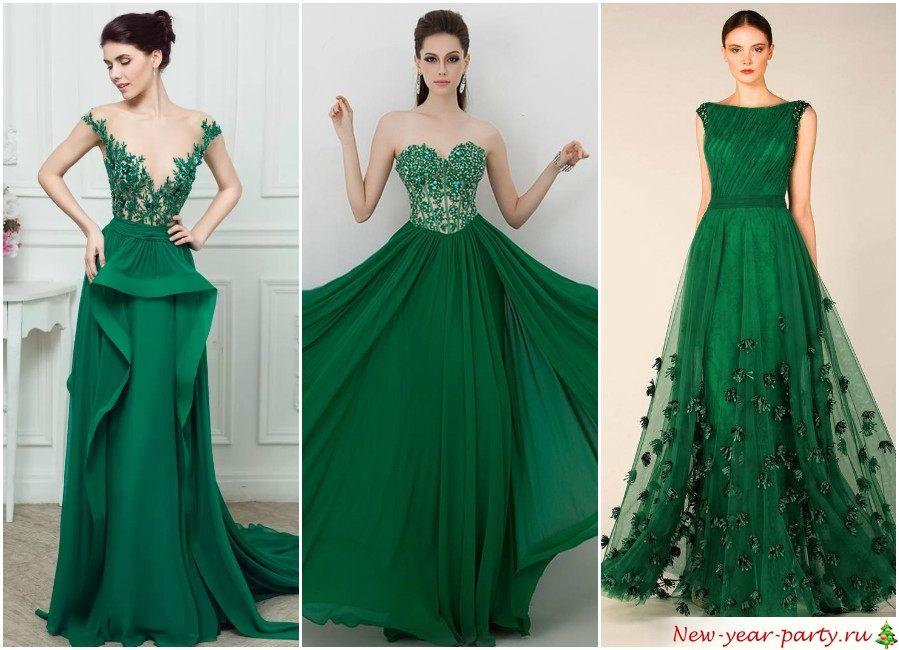 Зеленые платья