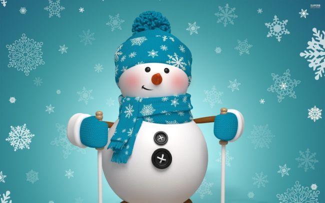 Раскраска снеговик для распечатки