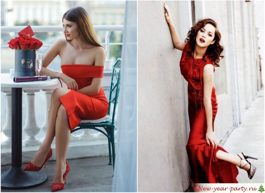 Красные платья на год Петуха