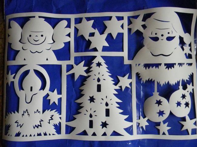 Трафареты Деда Мороза