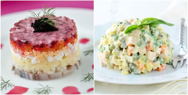 Классические новогодние салаты