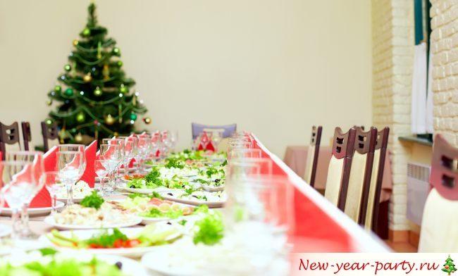 Красиво оформленный стол