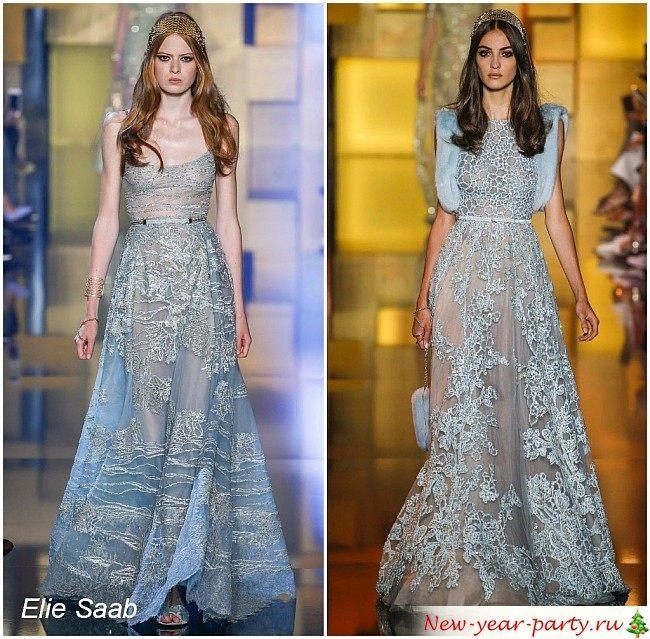 новогодние платья голубого цвета