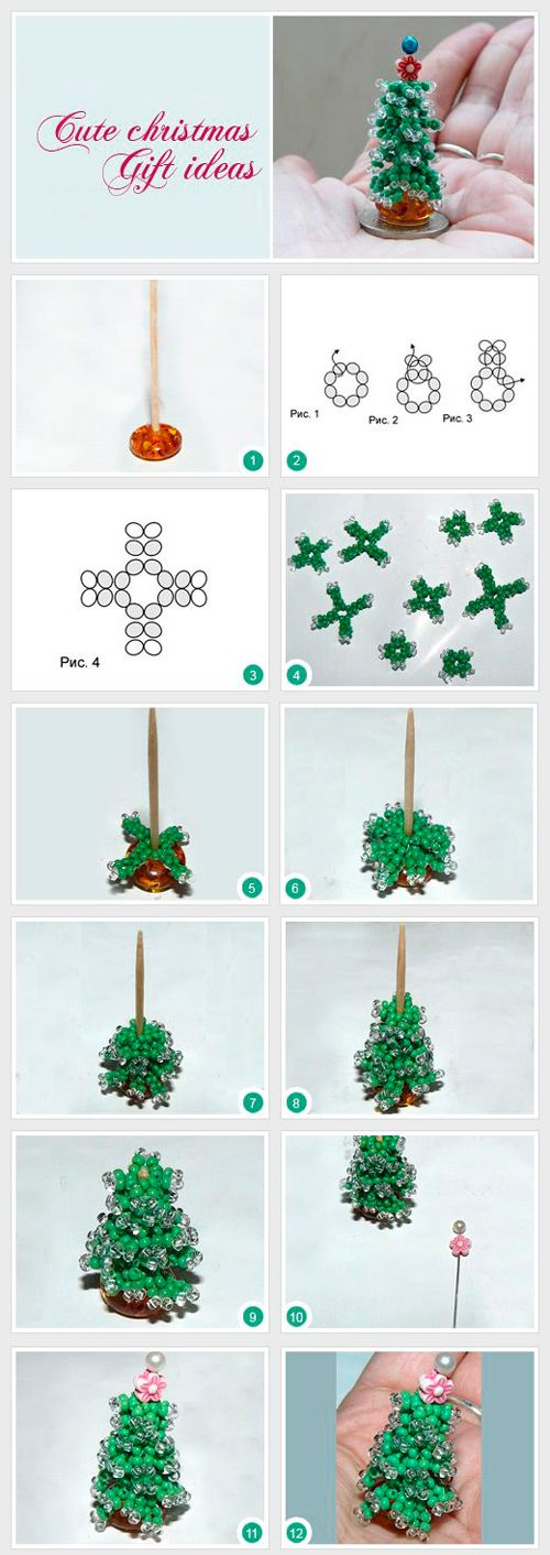 Как сделать ёлку инструкция из бисера