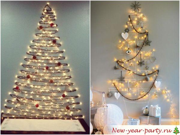 Новогодняя елка на стену, фото