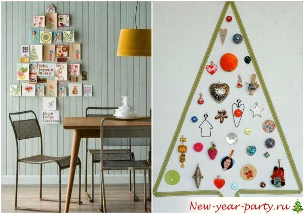 как сделать украшение на новый год своими руками на стену