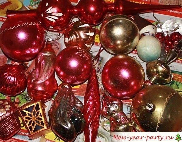 стеклянные шарики на елку