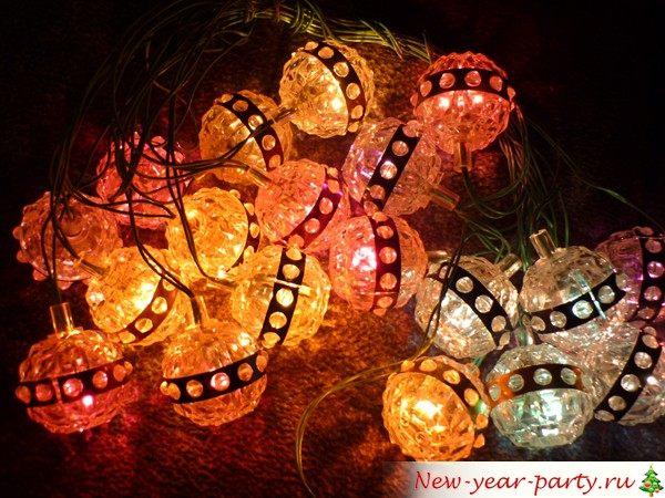 фонарики на елку