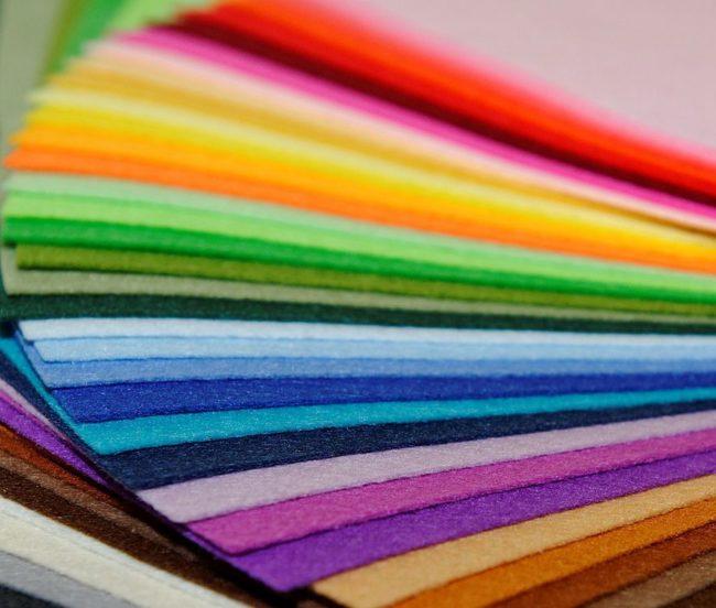Цветной листовой фетр