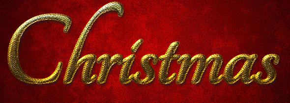 Рождественский стиль для фотошоп