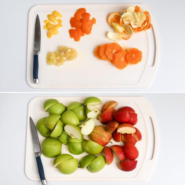 Готовим фрукты для глинтвейна