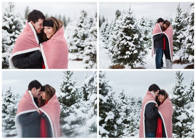 Идеи новогодних фотографий на улице пара