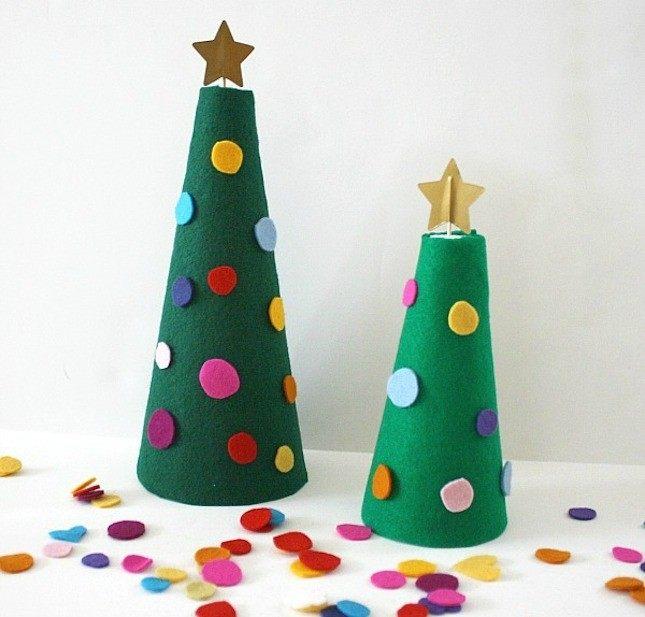 Самодельные елки со звездой