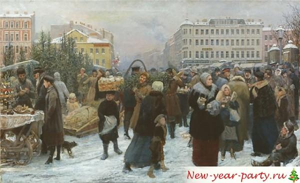 Новый год в царской росии