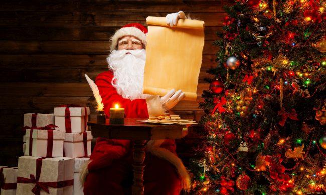 Санта читает желания детей