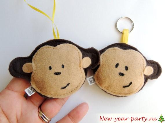 Новогодние обезьянки своими руками выкройки