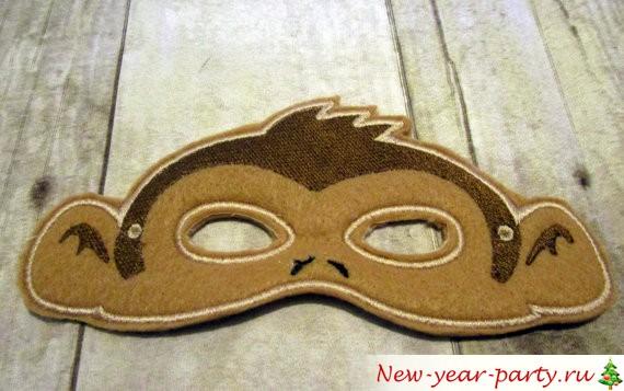 обезьянья маска для ребенка
