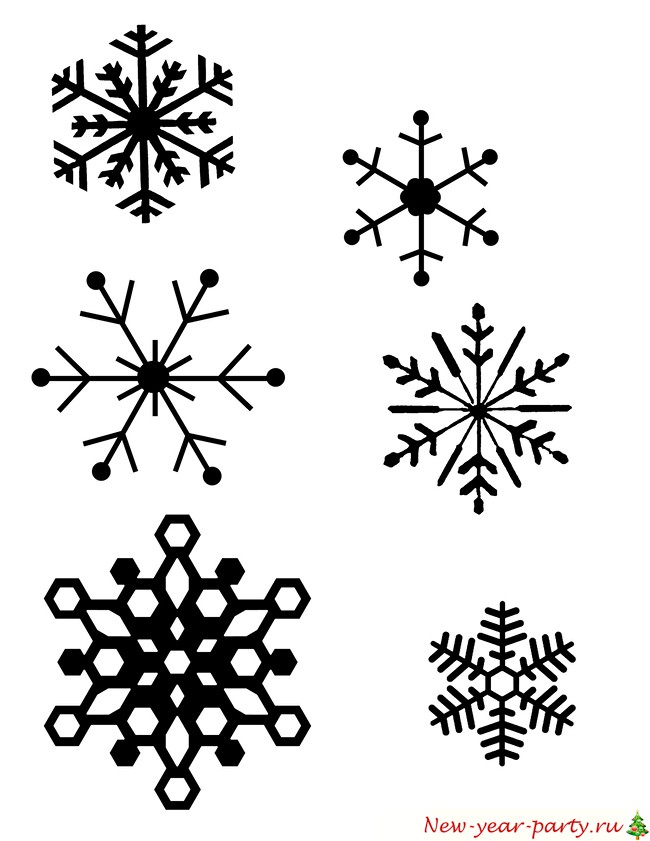 Трафарет для снежинки