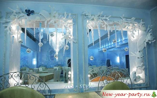 офисный новогодний декор