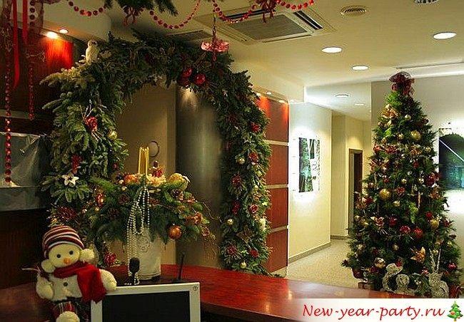 Украшения для офиса на новый год
