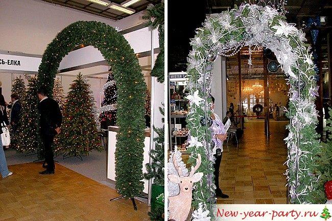 арки из искусственной елки