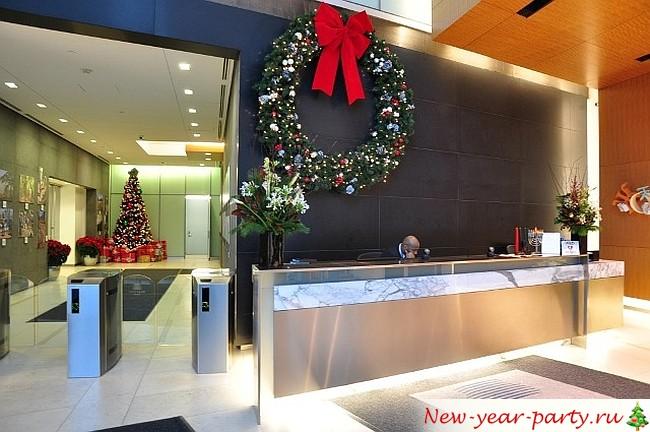 новогоднее офисное здание