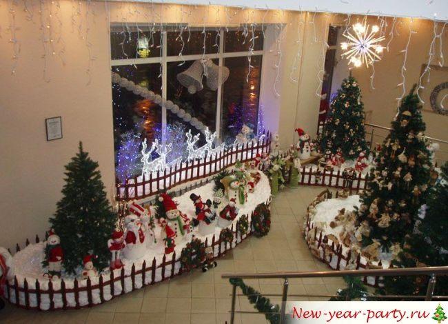 Украшение фойе школы на Новый год