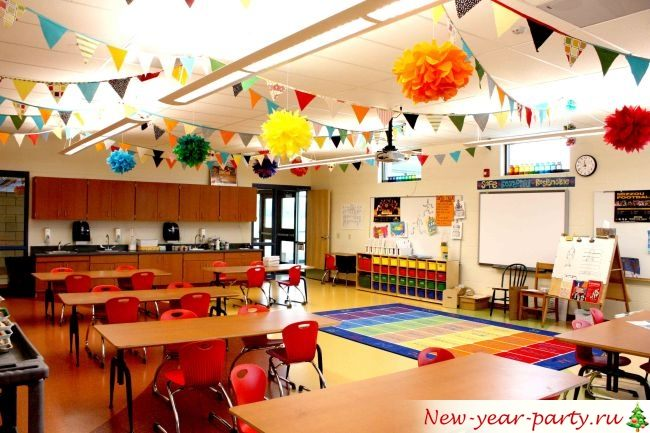 Новогодний школьный класс