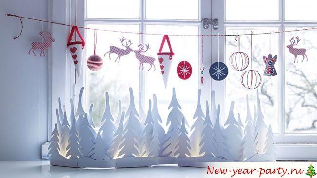 Украшаем кабинет к новому году