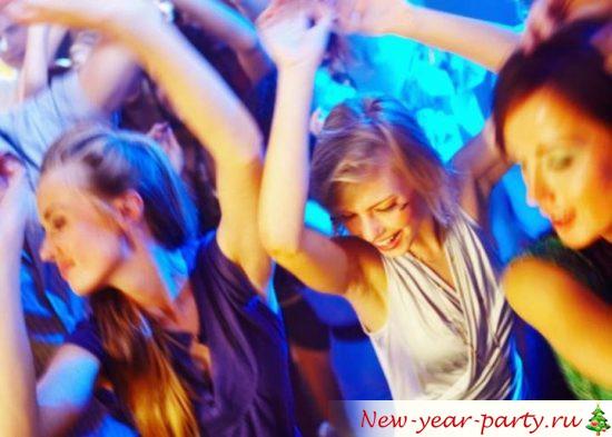 Новогодняя вечеринка в клубе