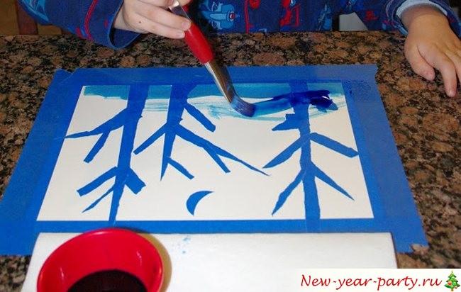 новогодний рисунок