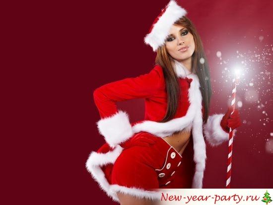 красная новогодняя шубка