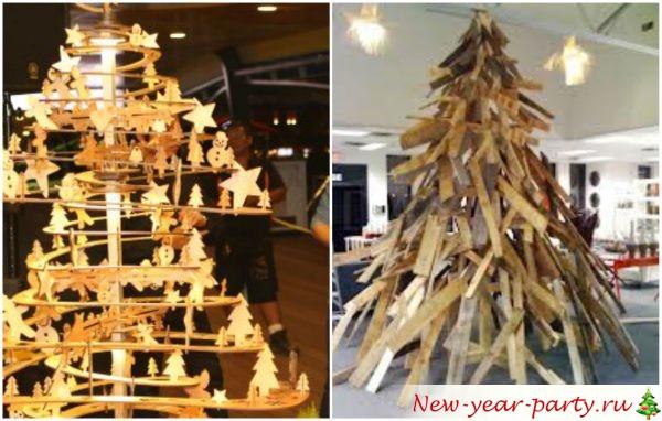 деревянные новогодние елки