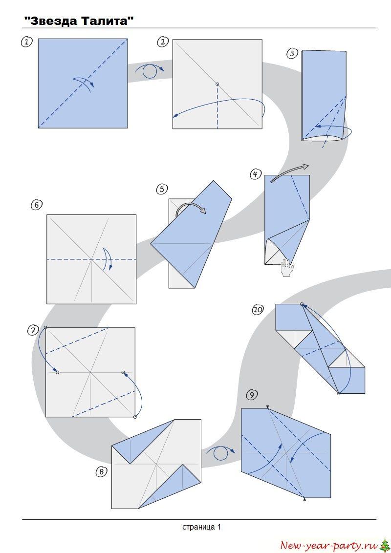 Схема создания новогодней звезды