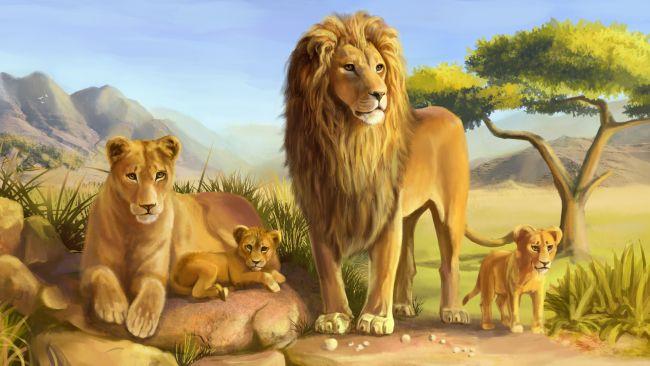 Маска льва для ребенка на новый год