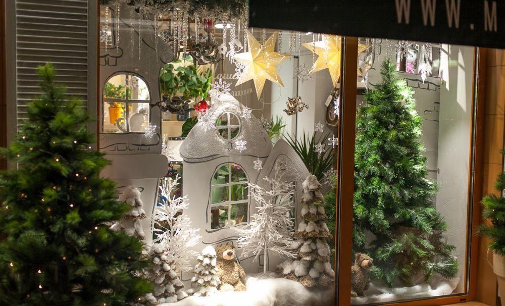 Оформление витрины в новый год