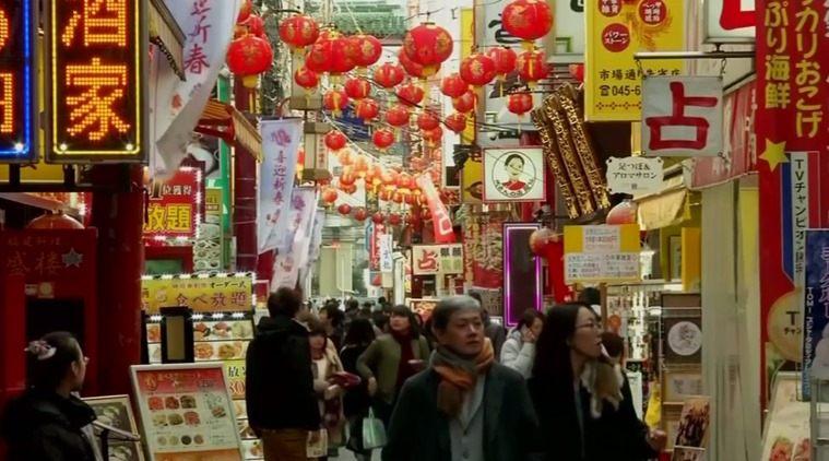 Новогодняя ярмарка в Японии