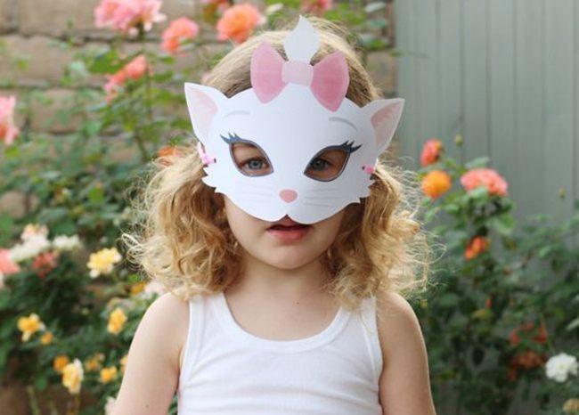 Маска кота, кошки, котенка для ребенка