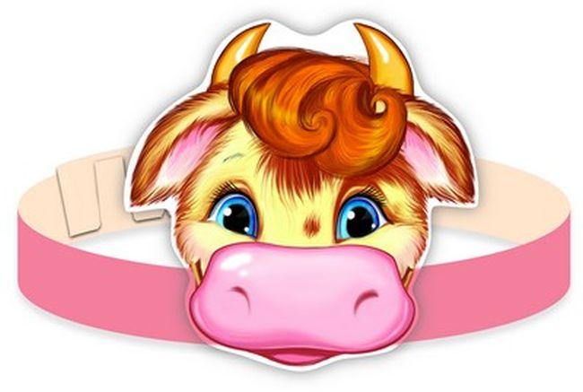 Маска коровы на утренник
