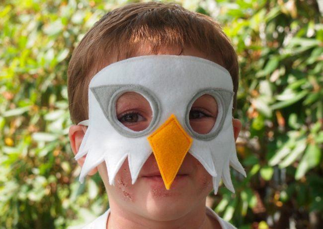 Маска птиц на голову ребенка