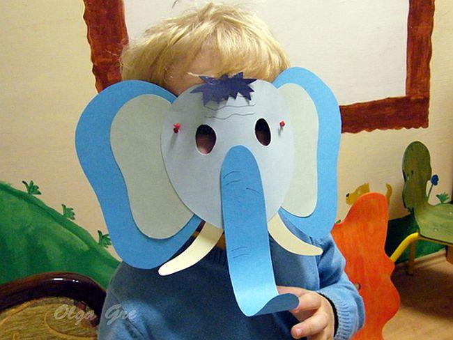 Маска слоненка на детский утренник