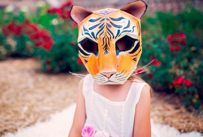 Маска тигра для утренника
