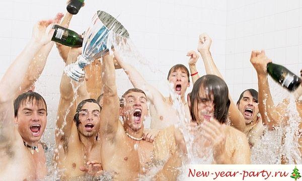 новогодняя вечеринка в бане