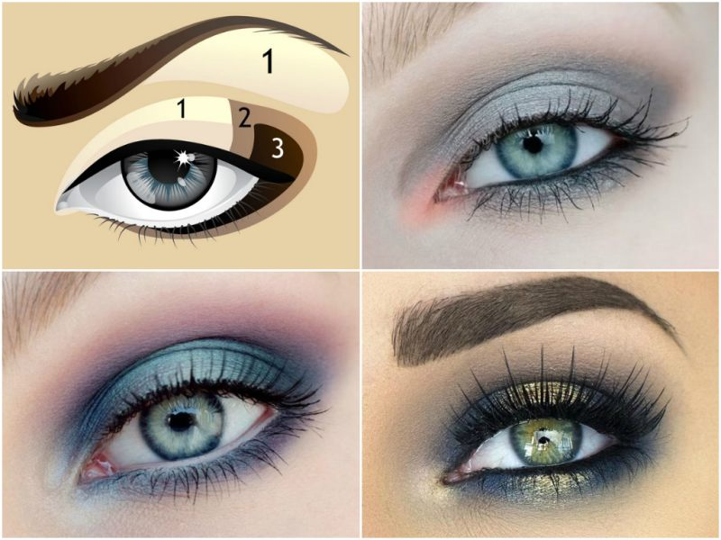 Новогодний макияж для светлых глаз