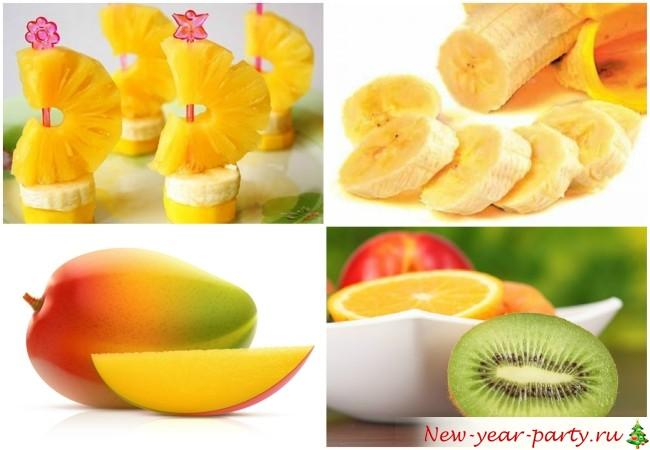 Новогоднее меню на год Обезьяны