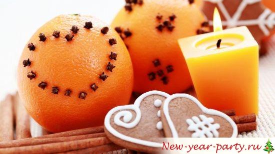 свеча с апельсином